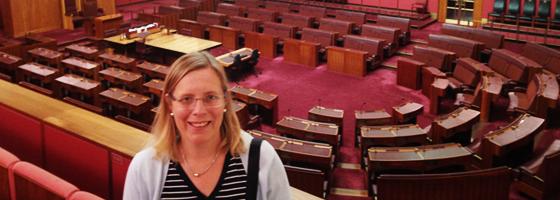 Dr. Louise K. Davidson-Schmich visits Australian Parliament during her RTG trip