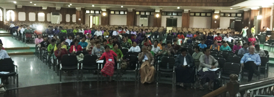 Dickson presents Fulbright conference in Myanmar