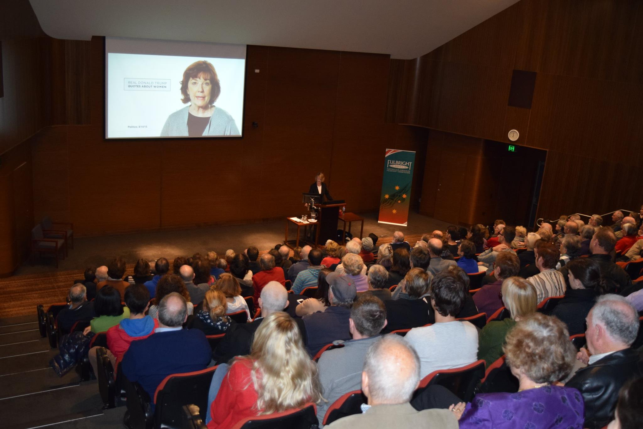 """Professor Weissert's public lecture """"What the Heck is Going on in the U.S. Presidential Election"""" in Perth"""