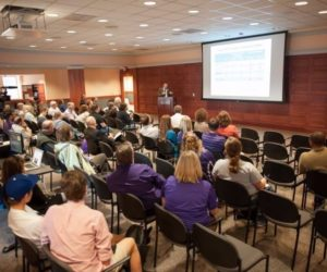 The audience gathered included students, colleagues from the Department of Plant Pathology and faculty from other Departments from across campus, and was recorded for K State TV