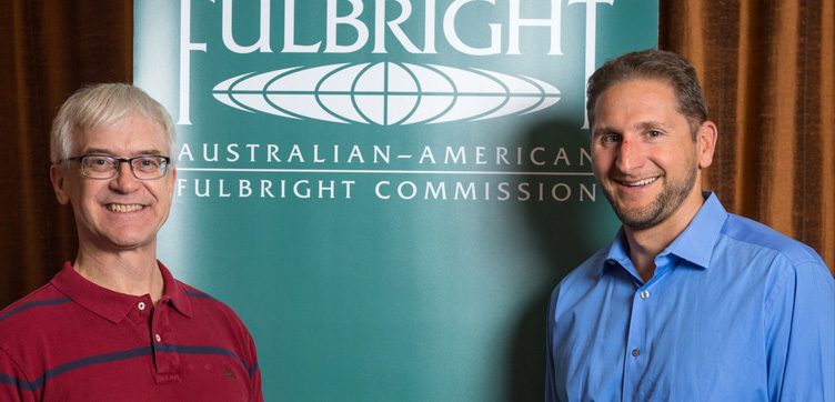Professor Richard Ziolkowski, Fulbright Distinguished Chair in Advanced Science & Technology (left) and Professor Thad Kousser, Fulbright-Flinders Distinguished Chair in American Political Science