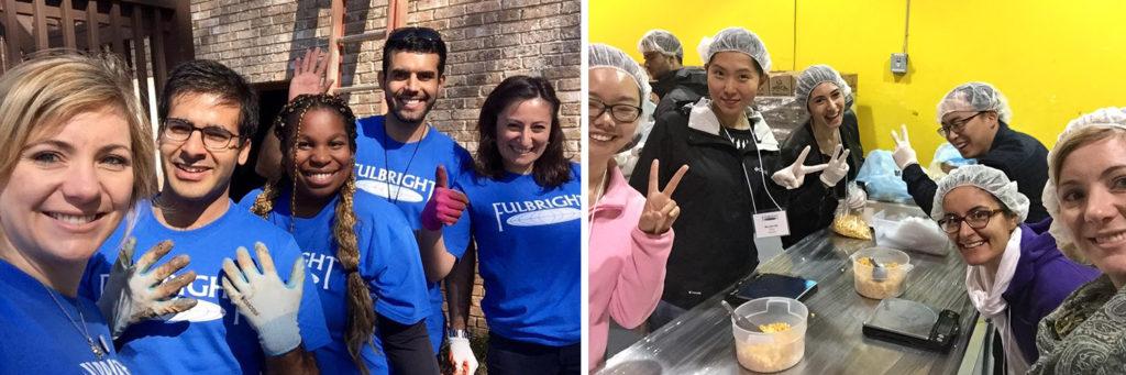 Tracey volunteering in Atlanta and San Francisco
