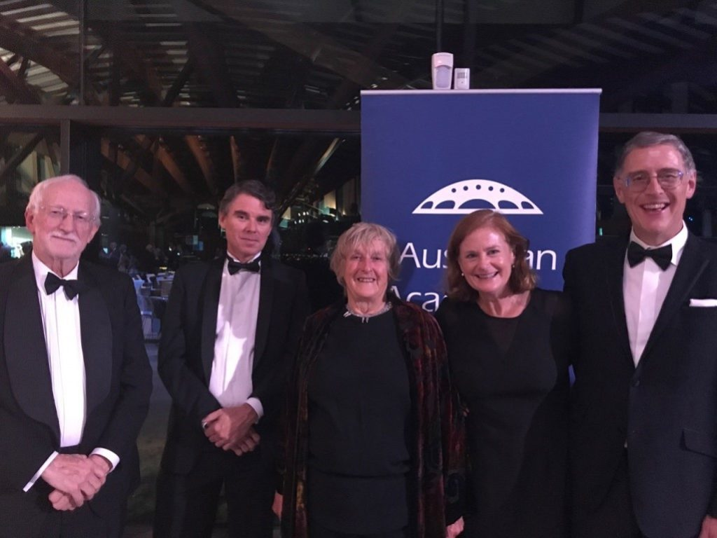 Benny Freeman (right) with CSIRO colleagues at the Australian Academy of Science Awards Dinner