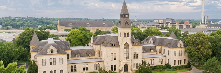 Aerial photograph of Kansas State University