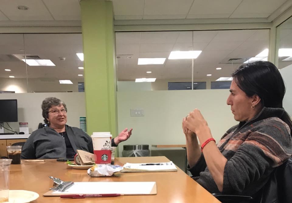 Karen Diver sharing stories with us at HUNAP