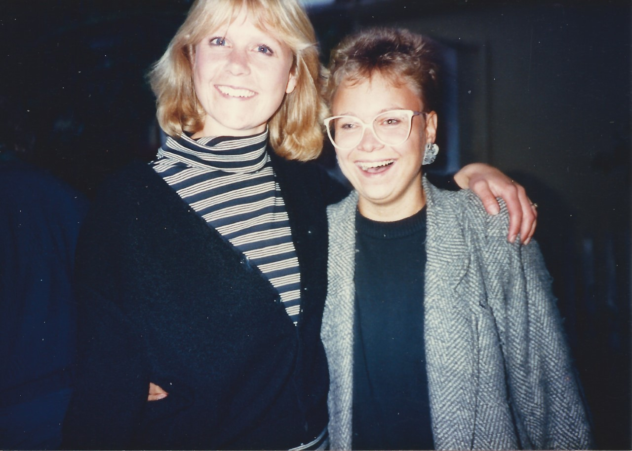 With Berkeley colleague and friend Frances, 1987