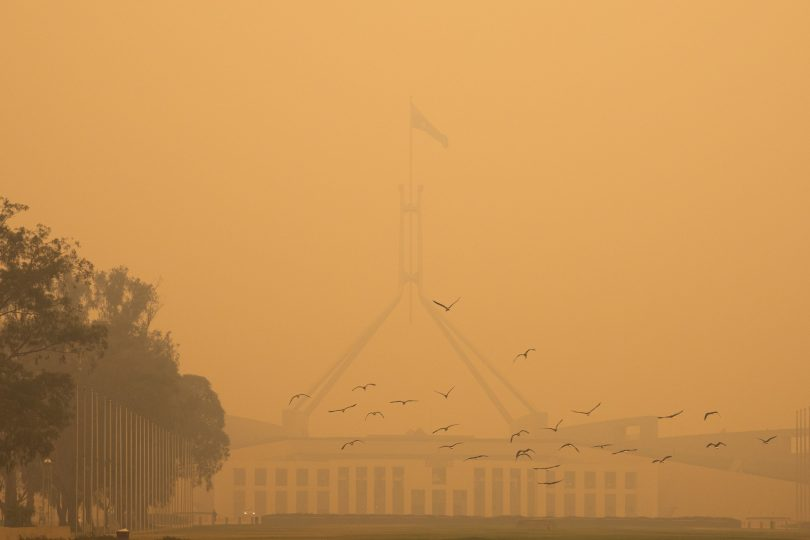 Smoke in Canberra