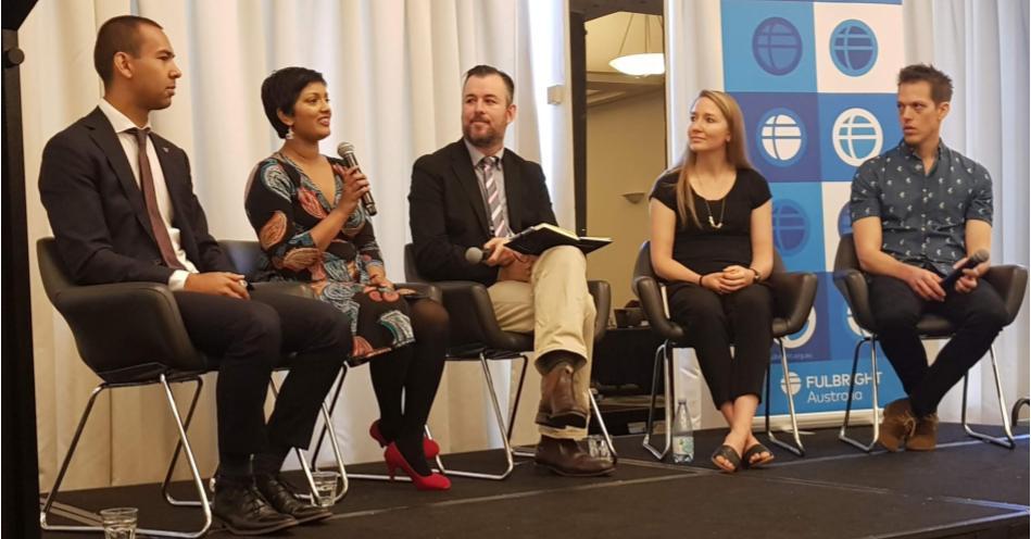 Alumni Speaking to 2020 Fulbright Awardees